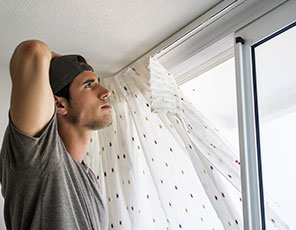 Curtain Take Down and Hang