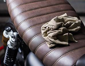 Motorcycle Leather Cleaning